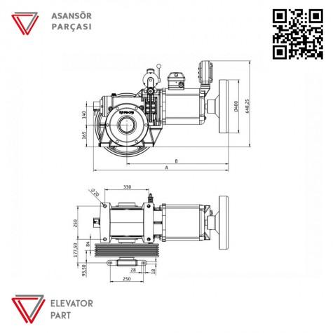 Akis ZF 60-Asansör Motoru