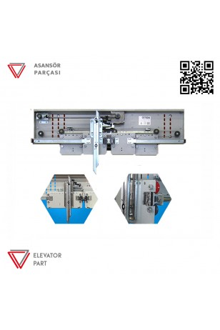 Emay 1000lik Merkezi 4 Panel Kabin Kapısı Mekanizması