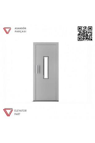 Door Life A4N Nokta Desen Kaplama 90lık Asansör Kapısı