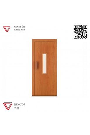 Door Life A6 Ahşap Boyalı 90lık Asansör Kapısı