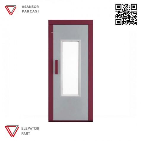 Door Life C6 Ahşap Boyalı 90lık Asansör Kapısı