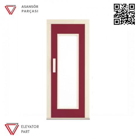 Door Life D4N Nokta Desen Kaplama 90lık Asansör Kapısı