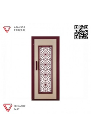 Door Life F3 Dövme Boya 90lık Asansör Kapısı
