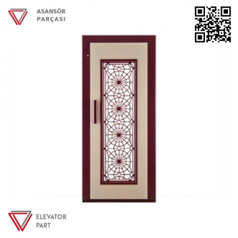Door Life F6 Ahşap Boyalı 90lık Asansör Kapısı