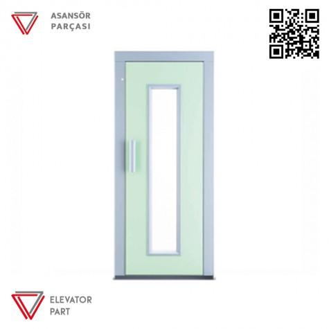 Door Life K4 Satine Paslanmaz 90lık Asansör Kapısı