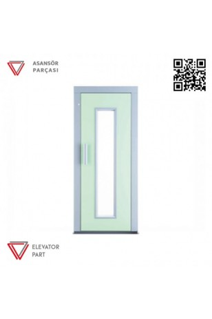 Door Life K6 Ahşap Boyalı 90lık Asansör Kapısı