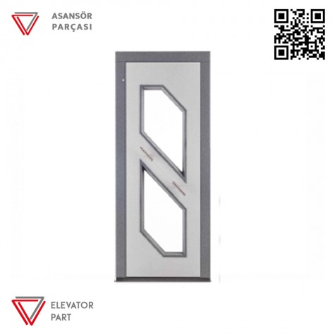 Door Life O4 Satine Paslanmaz 90lık Asansör Kapısı