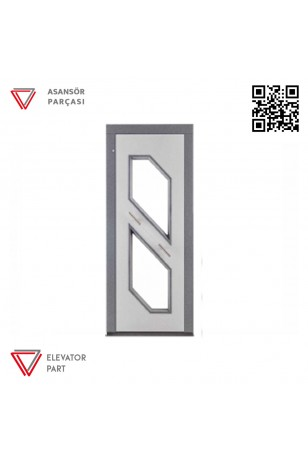 Door Life O4N Nokta Desen Paslanmaz Kaplama 90lık Asansör Kapısı