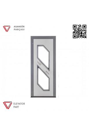 Door Life O6 Ahşap Boyalı 90lık Asansör Kapısı