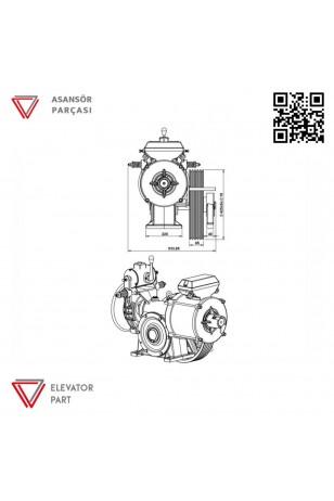 Akis Mugen M2 Serisi Asansör Motoru 880 Kg
