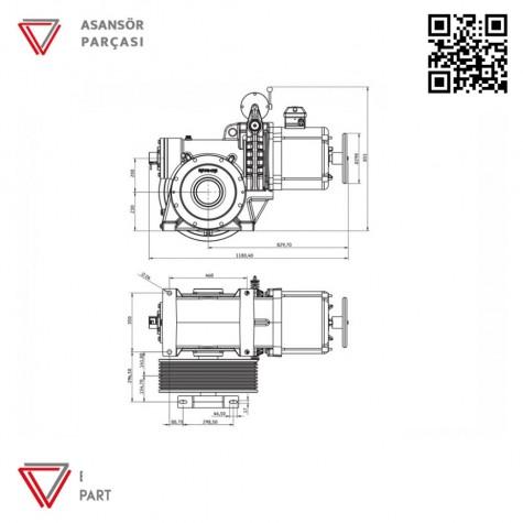 Akis ZF112 Serisi Asansör Motoru 2480 Kg