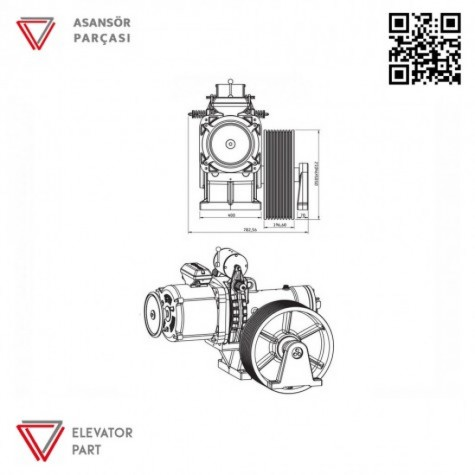 Akis ZF112 Serisi Asansör Motoru 3680 Kg