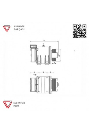 Akis Ak1 Asansör Motoru 210 Kasnak