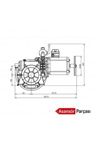 Akis Z 82-Asansör Motoru