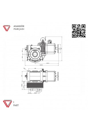 Akis ZF112-Asansör Motoru