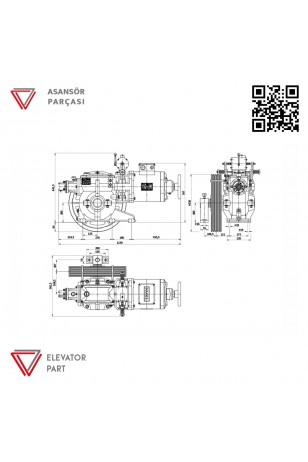 Nagel Kayra 5.5-Asansör Motoru