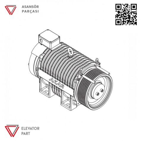 Akar Dişlisiz MRL-320 KG-Asansör Motoru