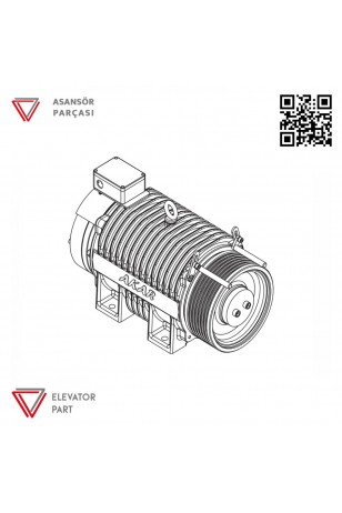 Akar Dişlisiz MRL-1125 KG-Asansör Motoru
