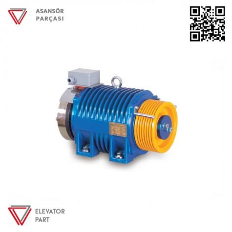 Akar Dişlisiz MRL-2500 KG-Asansör Motoru