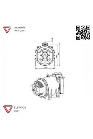 Akis Ak4-240-Asansör Motoru