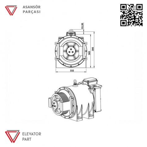 Akis Ak4-400-Asansör Motoru