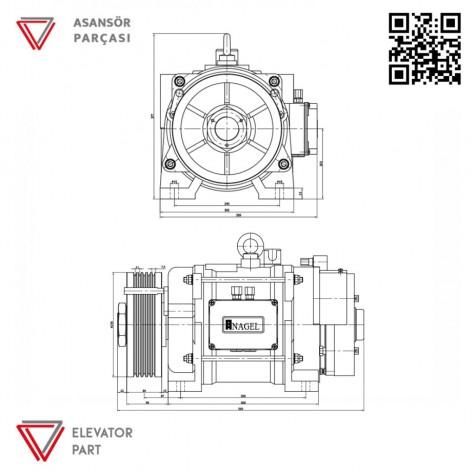 Nagel 160-2-320-Asansör Motoru